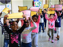 Kindergartners Celebrate Writing Success photo