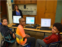 Middle School Students Create Through Coding photo
