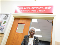 High School Library Named for Distinguished Nurse photo