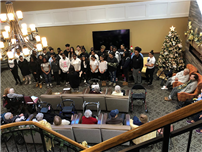 Middle School Chorus Serenades Dominican Village Residents  thumbnail161352